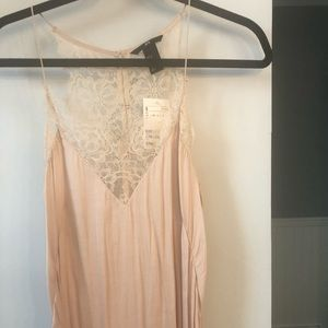 Brand new light pink lace lined camisole